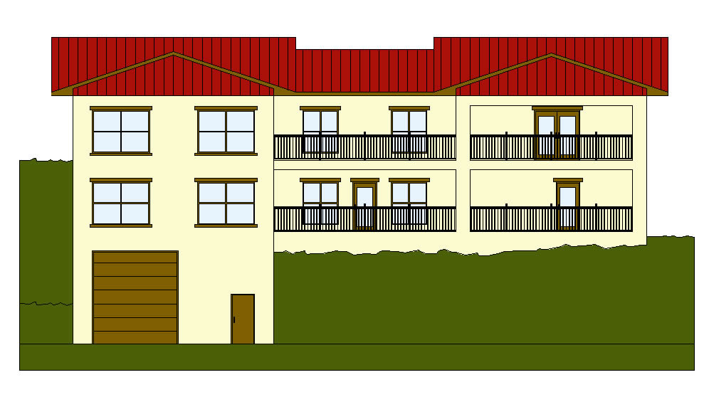 2d Front Elevation For Residential : Freelance cad drafting autocad d and drawings